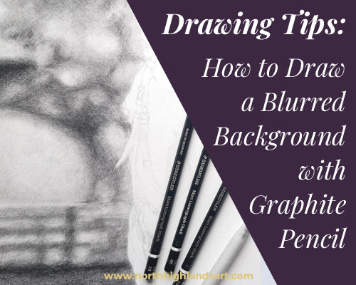 Learn how to draw a blurred background with graphite pencil in this Blog Post