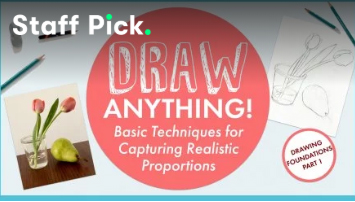 Enrol in drawing class, Draw Anything! Basic techniques for capturing realistic proportions.