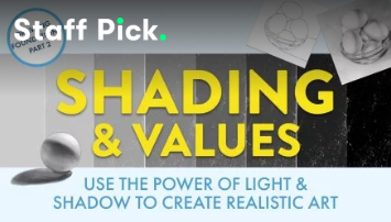 Enrol in drawing class: Shading & Vlues: Use the Power of Light & Shadow to Create Realistic Art