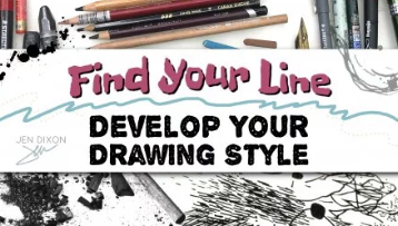 Enrol in Skillshare class, Find Your Line: Develop Your Drawing Style.